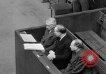 Image of war crimes trials Nuremberg Germany, 1947, second 38 stock footage video 65675071944