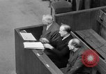 Image of war crimes trials Nuremberg Germany, 1947, second 46 stock footage video 65675071944