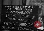 Image of war crimes trials Nuremberg Germany, 1947, second 4 stock footage video 65675071945