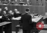 Image of war crimes trials Nuremberg Germany, 1947, second 40 stock footage video 65675071945