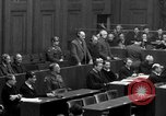 Image of war crimes trials Nuremberg Germany, 1947, second 43 stock footage video 65675071947