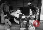 Image of Injured  U.S.prisoners of war removed from air evacuation planes Leyte Philippines, 1945, second 23 stock footage video 65675071949