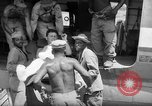 Image of Injured  U.S.prisoners of war removed from air evacuation planes Leyte Philippines, 1945, second 27 stock footage video 65675071949