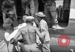 Image of Injured  U.S.prisoners of war removed from air evacuation planes Leyte Philippines, 1945, second 28 stock footage video 65675071949