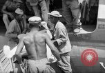 Image of Injured  U.S.prisoners of war removed from air evacuation planes Leyte Philippines, 1945, second 29 stock footage video 65675071949