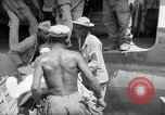 Image of Injured  U.S.prisoners of war removed from air evacuation planes Leyte Philippines, 1945, second 30 stock footage video 65675071949