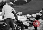Image of Injured  U.S.prisoners of war removed from air evacuation planes Leyte Philippines, 1945, second 33 stock footage video 65675071949