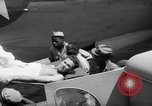 Image of Injured  U.S.prisoners of war removed from air evacuation planes Leyte Philippines, 1945, second 35 stock footage video 65675071949