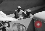 Image of Injured  U.S.prisoners of war removed from air evacuation planes Leyte Philippines, 1945, second 36 stock footage video 65675071949