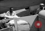 Image of Injured  U.S.prisoners of war removed from air evacuation planes Leyte Philippines, 1945, second 40 stock footage video 65675071949