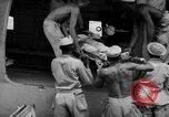 Image of Injured  U.S.prisoners of war removed from air evacuation planes Leyte Philippines, 1945, second 49 stock footage video 65675071949
