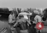 Image of Injured  U.S.prisoners of war removed from air evacuation planes Leyte Philippines, 1945, second 52 stock footage video 65675071949