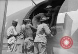 Image of Injured  U.S.prisoners of war removed from air evacuation planes Leyte Philippines, 1945, second 53 stock footage video 65675071949
