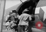 Image of Injured  U.S.prisoners of war removed from air evacuation planes Leyte Philippines, 1945, second 54 stock footage video 65675071949