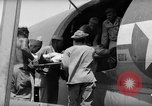 Image of Injured  U.S.prisoners of war removed from air evacuation planes Leyte Philippines, 1945, second 55 stock footage video 65675071949