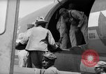 Image of Injured  U.S.prisoners of war removed from air evacuation planes Leyte Philippines, 1945, second 58 stock footage video 65675071949