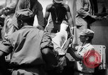 Image of Injured  U.S.prisoners of war removed from air evacuation planes Leyte Philippines, 1945, second 61 stock footage video 65675071949