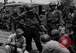 Image of General Mudge and troops of U.S. 1st Cavalry Division Manila Philippines, 1945, second 54 stock footage video 65675071953