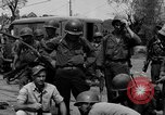 Image of General Mudge and troops of U.S. 1st Cavalry Division Manila Philippines, 1945, second 57 stock footage video 65675071953