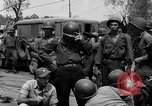 Image of General Mudge and troops of U.S. 1st Cavalry Division Manila Philippines, 1945, second 62 stock footage video 65675071953