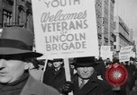 Image of American volunteers returning from Spanish Civil War New York City USA, 1938, second 31 stock footage video 65675071981