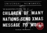 Image of Christmas Broadcast Washington DC USA, 1938, second 1 stock footage video 65675071983