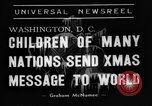 Image of Christmas Broadcast Washington DC USA, 1938, second 3 stock footage video 65675071983