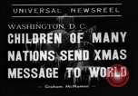 Image of Christmas Broadcast Washington DC USA, 1938, second 4 stock footage video 65675071983