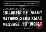 Image of Christmas Broadcast Washington DC USA, 1938, second 6 stock footage video 65675071983