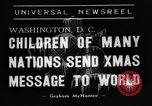 Image of Christmas Broadcast Washington DC USA, 1938, second 7 stock footage video 65675071983