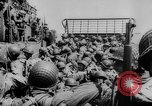 Image of Normandy beachhead filled with reinforcement troops and equipment France, 1944, second 29 stock footage video 65675072013