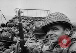 Image of Normandy beachhead filled with reinforcement troops and equipment France, 1944, second 32 stock footage video 65675072013