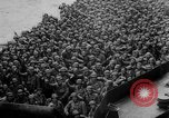 Image of Normandy beachhead filled with reinforcement troops and equipment France, 1944, second 39 stock footage video 65675072013