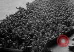 Image of Normandy beachhead filled with reinforcement troops and equipment France, 1944, second 40 stock footage video 65675072013
