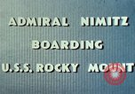 Image of Admiral Chester Nimitz Kwajalein Island Marshall Islands, 1944, second 50 stock footage video 65675072045