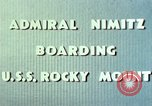 Image of Admiral Chester Nimitz Kwajalein Island Marshall Islands, 1944, second 55 stock footage video 65675072045