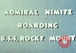 Image of Admiral Chester Nimitz Kwajalein Island Marshall Islands, 1944, second 56 stock footage video 65675072045