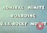 Image of Admiral Chester Nimitz Kwajalein Island Marshall Islands, 1944, second 57 stock footage video 65675072045