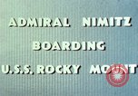 Image of Admiral Chester Nimitz Kwajalein Island Marshall Islands, 1944, second 60 stock footage video 65675072045