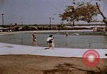 Image of Alien internment swimming pool during World War 2 Crystal City Texas USA, 1943, second 2 stock footage video 65675072074