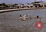 Image of Alien internment swimming pool during World War 2 Crystal City Texas USA, 1943, second 14 stock footage video 65675072074