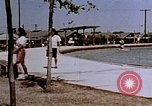 Image of Alien internment swimming pool during World War 2 Crystal City Texas USA, 1943, second 15 stock footage video 65675072074