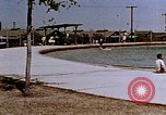 Image of Alien internment swimming pool during World War 2 Crystal City Texas USA, 1943, second 16 stock footage video 65675072074