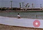 Image of Alien internment swimming pool during World War 2 Crystal City Texas USA, 1943, second 19 stock footage video 65675072074