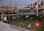 Image of Alien internment swimming pool during World War 2 Crystal City Texas USA, 1943, second 62 stock footage video 65675072074