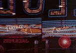 Image of neon signs of Las Vegas casinos and hotels Las Vegas Nevada USA, 1958, second 17 stock footage video 65675072081