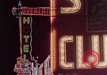 Image of neon signs of Las Vegas casinos and hotels Las Vegas Nevada USA, 1958, second 23 stock footage video 65675072081