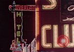 Image of neon signs of Las Vegas casinos and hotels Las Vegas Nevada USA, 1958, second 24 stock footage video 65675072081