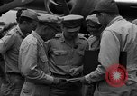 Image of review of mission Saipan Northern Mariana Islands, 1945, second 11 stock footage video 65675072101