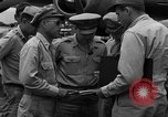 Image of review of mission Saipan Northern Mariana Islands, 1945, second 15 stock footage video 65675072101